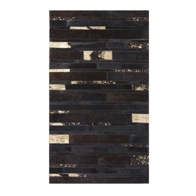Artvin Hand-Woven Brown Area Rug Rug size: Rectangle 27  x 59