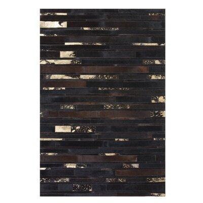 Artvin Hand-Woven Brown Area Rug Rug size: Rectangle 52 x 76