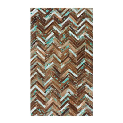 Amasya Hand-Woven Brown Area Rug Rug size: Rectangle 27  x 59