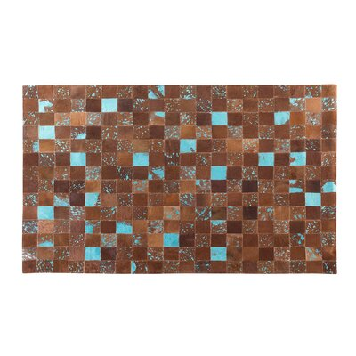 Aliaga Hand-Woven Brown Area Rug Rug size: Rectangle 47 x 66