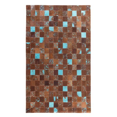 Aliaga Hand-Woven Brown Area Rug Rug size: Rectangle 52 x 76