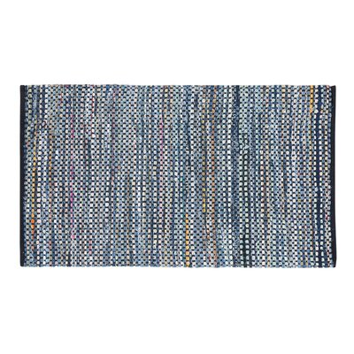 Alanya Hand-Woven Blue Area Rug Rug size: 27 x 411