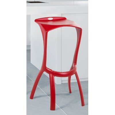 Broome 30 Bar Stool Color: Red
