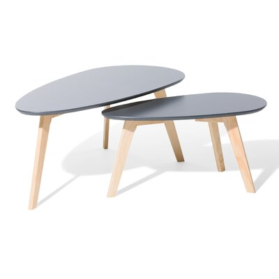 Fly II 2 Piece Nest of Tables Color: Gray