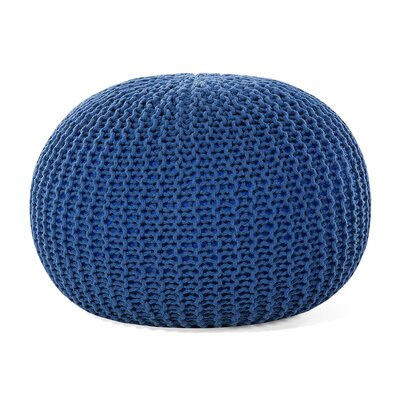 Conrad Pouf Upholstery color: Blue