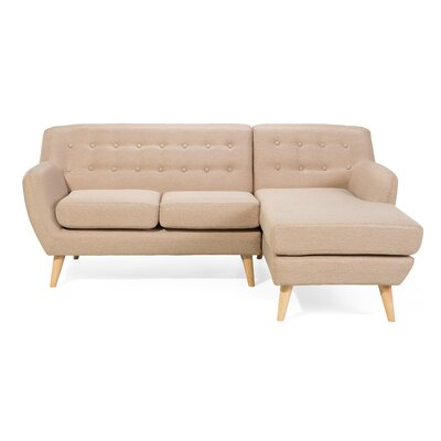 Motala Sofa and Chaise Upholstery: Beige