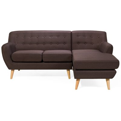 Motala Sofa and Chaise Upholstery: Dark brown