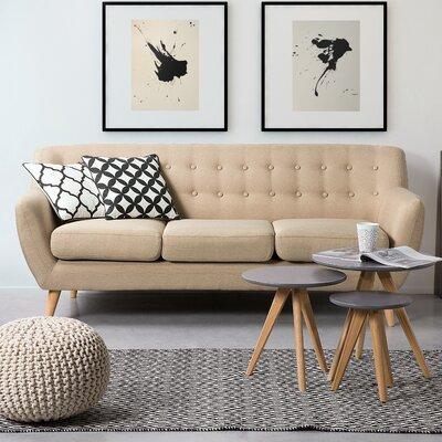 Poppy Standard Sofa Upholstery: Beige