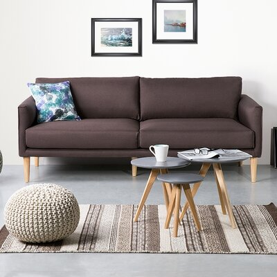 Uppsala 4 Seater Standard Sofa Upholstery: Dark brown