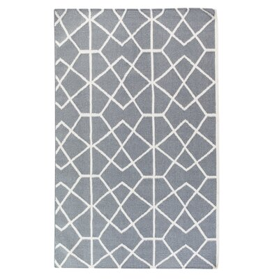 Ortaca Handwoven Wool Gray Area Rug Rug Size: Rectangle 311 x 57