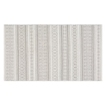 Payas Handwoven Wool Gray Area Rug Rug Size: Rectangle 27 x 411