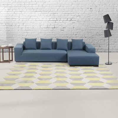 Antalya Gray/Yellow Area Rug