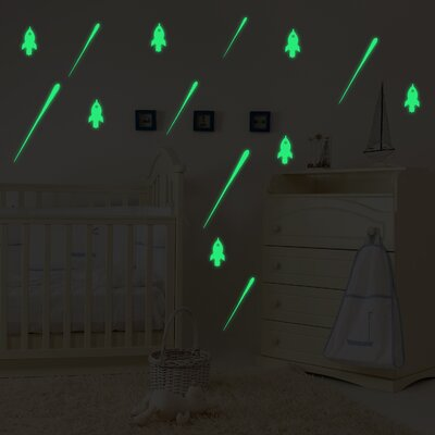 Gradall Meteor and Rocket Glowing Wall Decal ZMIE6071 43905156