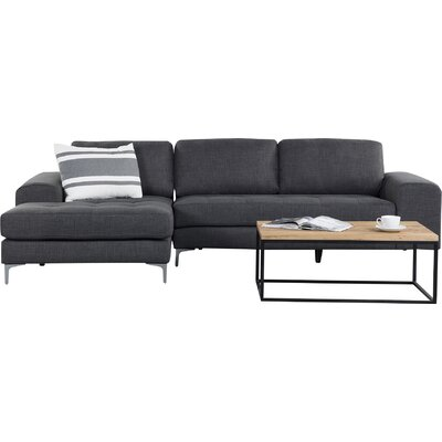 Rula Corner Sofa Upholstery: Dark Grey