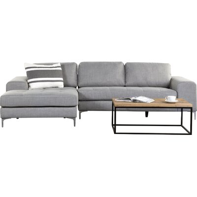Rula Corner Sofa Upholstery: Light Grey