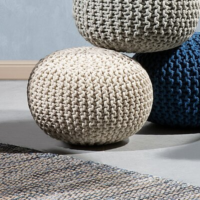 Conrad Pouf Upholstery color: Beige