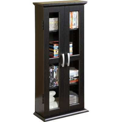 Wood DVD Multimedia Cabinet Color: Textured Black