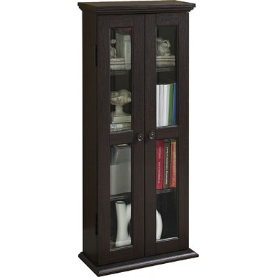 Wood DVD Multimedia Cabinet Color: Espresso