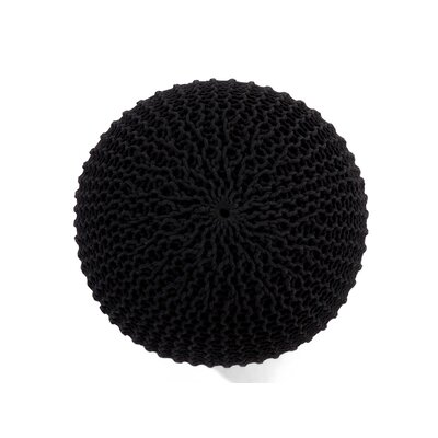 Conrad Pouffe Ottoman Color: Black