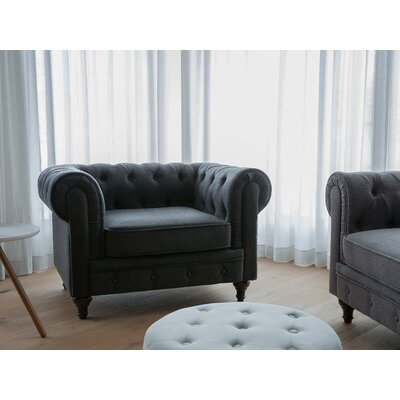 Brookdale Chesterfield Chair Upholstery : Graphite