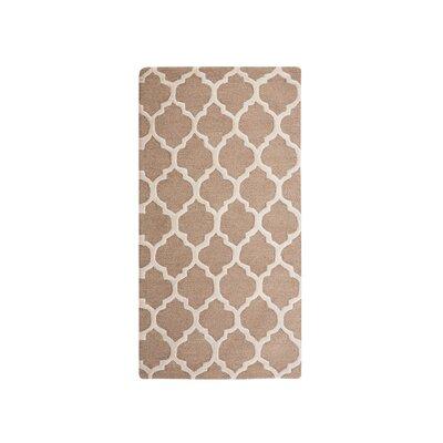 Erbaa Hand-Tufted Beige Area Rug Rug Size: Rectangle 27 x 411
