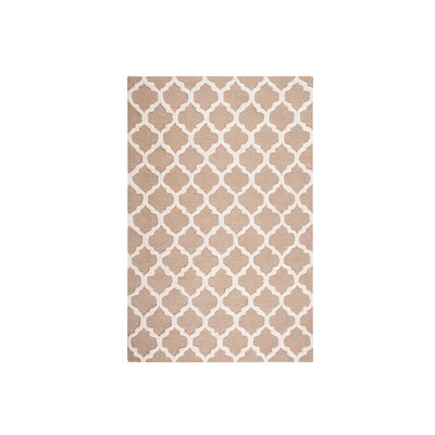 Erbaa Hand-Tufted Beige Area Rug Rug Size: Rectangle 47 x 66