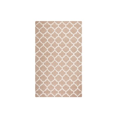 Erbaa Hand-Tufted Beige Area Rug Rug Size: Rectangle 52 x 76