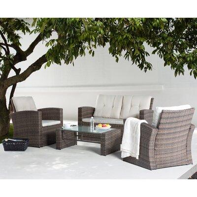 braun-rattan-polyrattan- Loungemöbel-Garten online kaufen | Möbel ...