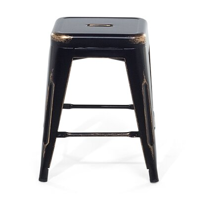 Cabrillo Bar Stool Color: Black/Golden