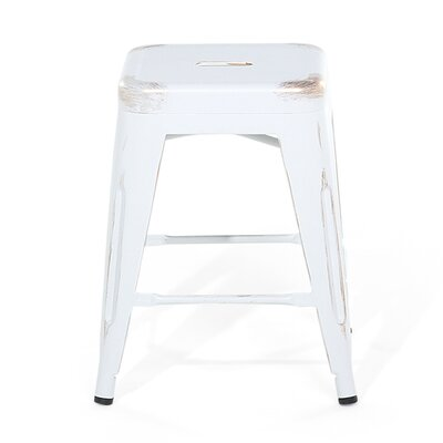 Cabrillo Bar Stool Color: White/Golden