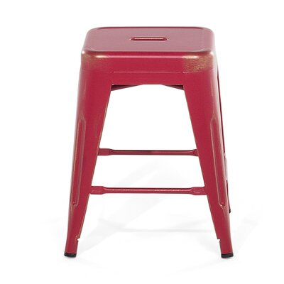 Cabrillo Bar Stool Color: Red/Golden