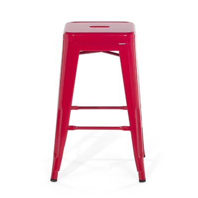 Cabrillo Bar Stool Color: Red