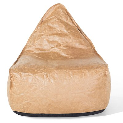 Drop Bean Bag Chair Upholstery: Brown
