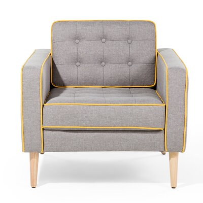 Flam Armchair Upholstery: Gray