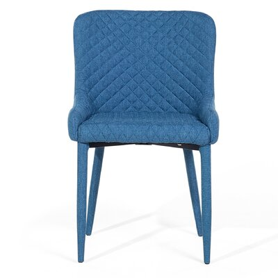 Solano Upholstered Dining Chair Upholstery Color: Dark Blue