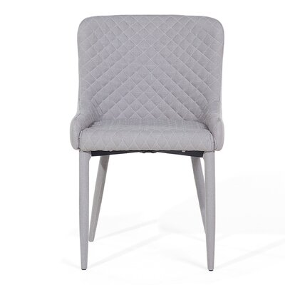Solano Upholstered Dining Chair Upholstery Color: Gray