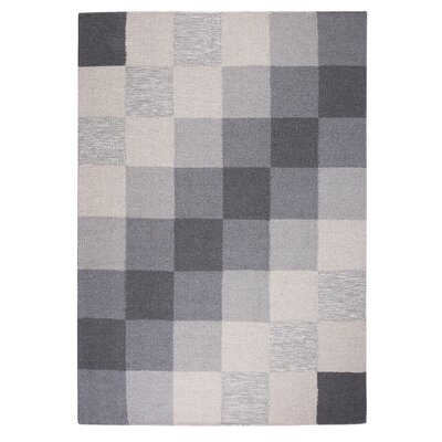 Nizip Hand-Tufted Wool Gray/Beige Area Rug Rug Size: Rectangle 53 x 77