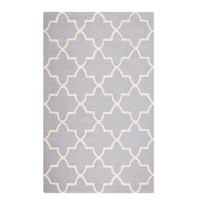 Silvan Hand-Tufted Gray Area Rug Rug Size: Rectangle 47 x 67