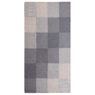Nizip Hand-Tufted Wool Gray/Beige Area Rug Rug Size: Rectangle 27 x 411