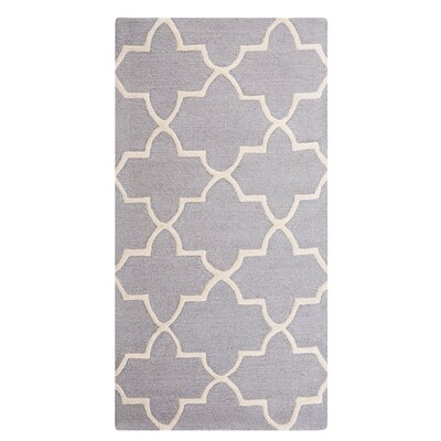 Silvan Hand-Tufted Gray Area Rug Rug Size: Rectangle 27 x 411