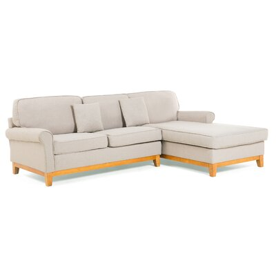 Nexo Corner Sofa Upholstery: Light Brown