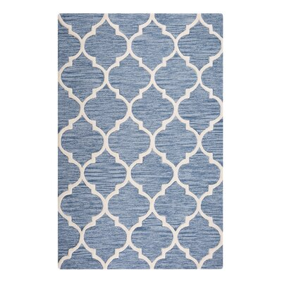 Yalova Hand-Tufted Light Blue Area Rug Rug Size: Rectangle 47 x 66