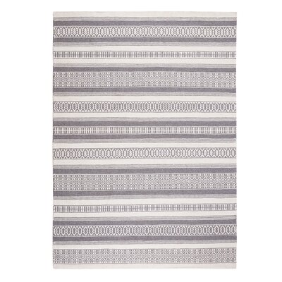 Payas Handwoven Dark Gray Area Rug Rug Size: Rectangle 53 x 77