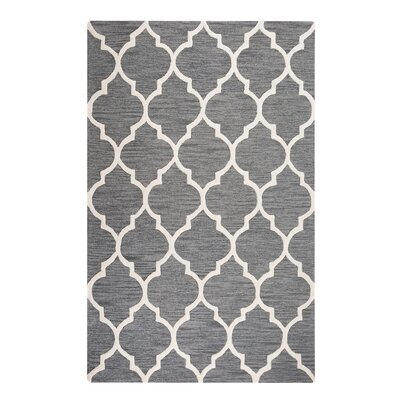 Yalova Hand-Tufted Gray Area Rug Rug Size: Rectangle 52 x 76