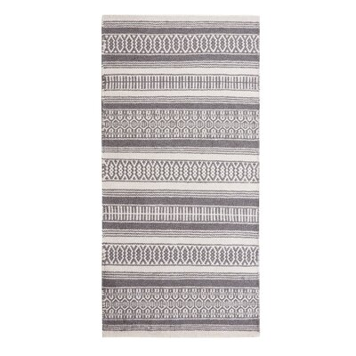 Payas Handwoven Dark Gray Area Rug Rug Size: Rectangle 27 x 411