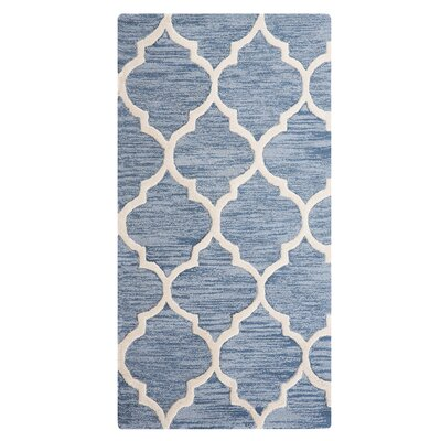 Yalova Hand-Tufted Light Blue Area Rug Rug Size: Rectangle 27 x 411