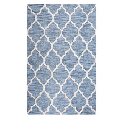 Yalova Hand-Tufted Light Blue Area Rug Rug Size: Rectangle 5'2
