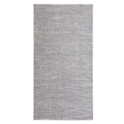 Saray Handwoven Wool Dark Gray Area Rug Rug Size: Rectangle 53 x 77