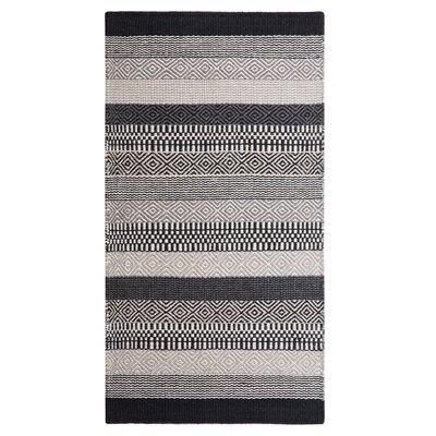 Polati Handwoven Wool Gray/Beige/Black Area Rug Rug Size: Rectangle 27 x 411