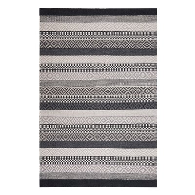 Polati Handwoven Wool Gray/Beige/Black Area Rug Rug Size: Rectangle 47 x 67